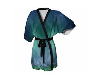 Midnight Fireflies Kimono Jacket