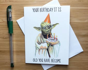 Funny 'Old you have Become' Birthday Card, Pop Culture Birthday Card, Birthday Party Favors, Teenager Birthday Gift, Birthday Handmade Card