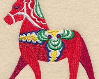 Sassy Dala Horse Embroidered Kitchen Towel