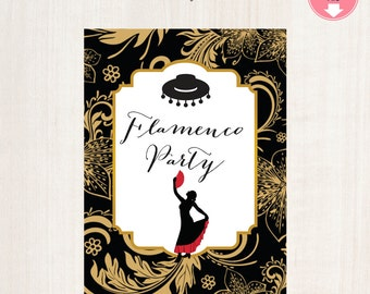 Flamenco Birthday Party Sign 8x10 Flamenco Themed Party (2) Designs Flamenco Party Sign Printable Signs Instant Download