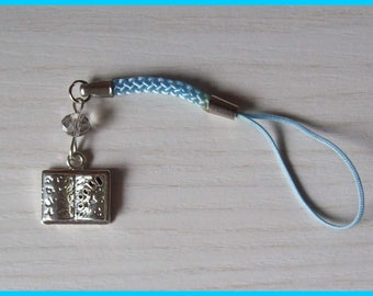 Book charm cell phone or bag charm.