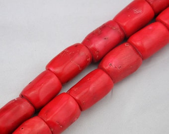 About 17 Pieces Red coral beads,One Full Strand,coral Beads,Gemstone Beads---10-25mm---17inches----S173