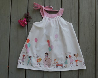 Magic Parade Sundress in White and Pastels
