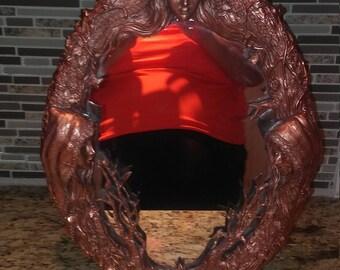 Unique bronze mirror