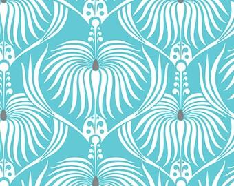 Camelot fabrics, DAHLIA in blue, Last 10 Inches