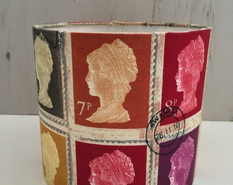 Presitgious First Class Stamp Drum Table Lampshade 20cm