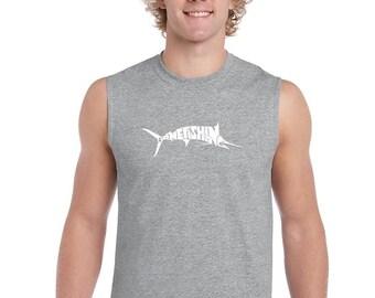 Men's Sleeveless Shirt - Marlin - Gone Fishing