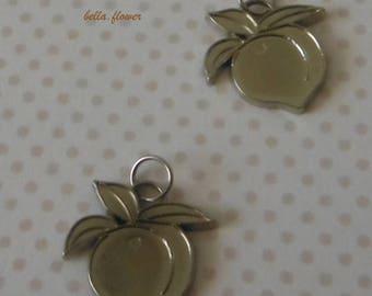 Metallic plastic charm Apple 2cm