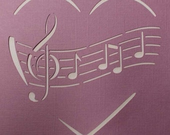 Music to My Heart Stencil