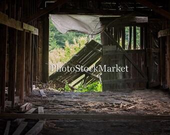 Tobacco Barn Interior - Digital Backdrop Abandoned building - Photoshop Background - Rundown Barn -  Old Barn interior
