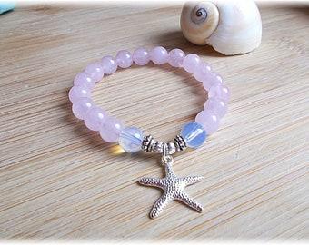 Rose Quartz moonstone bracelet Moonstone Pink Quartz