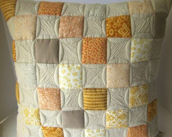 Neutral Pillow, Quilted Pillow Cover, Neutral Pillow Cover, Decorator Pillow, Toss Pillow, Quilted Toss Pillow, Decorative Pillow,