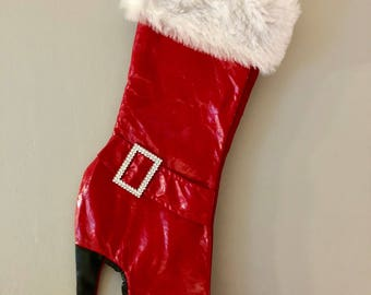 High heel boot Christmas Stocking Personalized