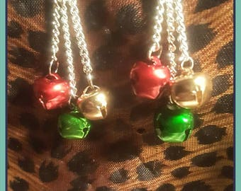 Jingle Bell Christmas Earrings.