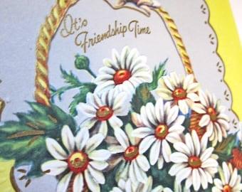 It's Friendship Time - Vintage Friendship Unused Card - like new