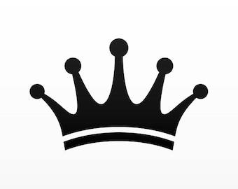 Decal Sticker Royal Crown Chess Queen Crown Royal heraldic King Princess Kingdom 01228