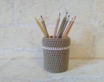 Ref.1630 crochet pencil holder