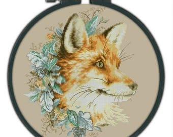 Fox Counted Cross Stitch Pattern