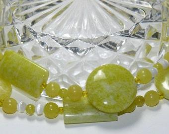 Lemon Jasper Beaded Handmade Necklace