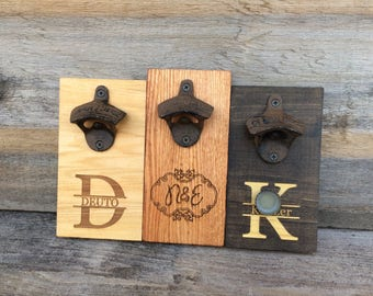 Groomsman Gift Personalized Beer Bottle Opener, Father's Day