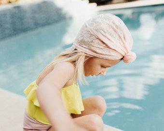 Blush Pink or Cream Lace Turbans
