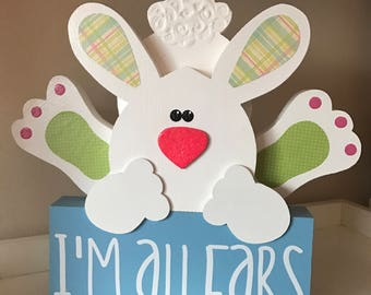 I'm All Ears  // Wooden Bunny // Easter Decoration