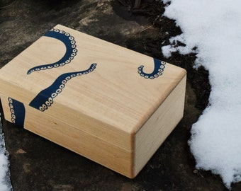 Octopus / Kraken Wooden Keepsake Box