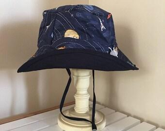 Childrens Hat - Solar System (Navy)