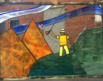 Fly fisherman - panel