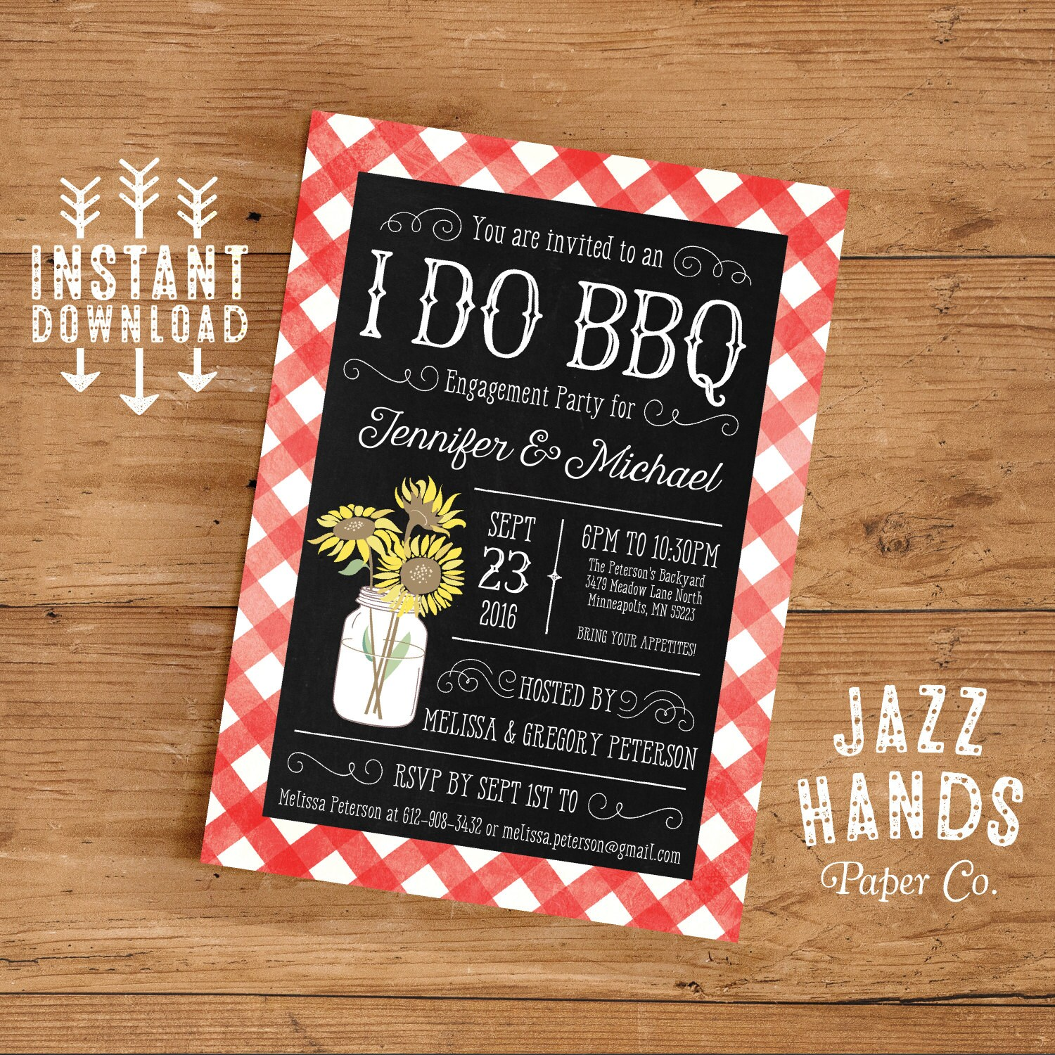 Engagement Party Invitation, I Do BBQ Invitation Engagement Party ...