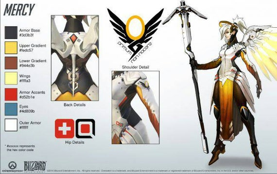 Sew On Patch Overwatch Mercy Small Hip Symbol Inspired