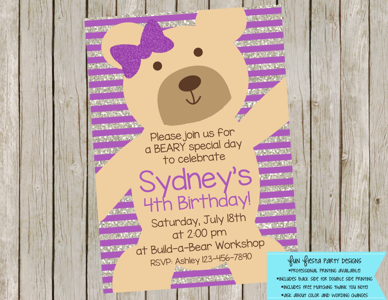 Teddy Bear party invitation