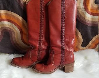 1970s Frye Riding Boots, Sz 7, 8546