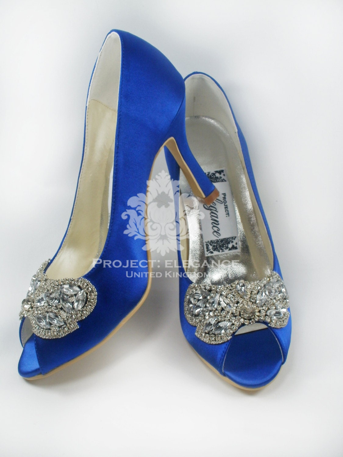 No Heel Wedding Shoes: Blue Wedding Shoes Something Blue Crystal Wedding Shoes
