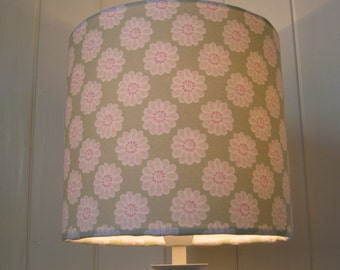 Bees lampshade ceiling pendant sage green daisy drum lampshade aloadofball Gallery
