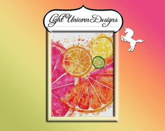 Citrus Fruit Cross Stitch Pattern