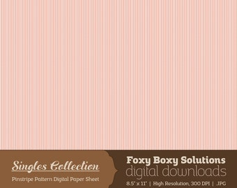 Instant Download Pink Pinstripe Printable Digital Paper for Scrapbooking - Digital Download Supply - Rustic Shabby Chic Digital Background