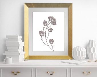 Flower Wall Art, Flower Art, Flower Prints, Brown Flowers, Printable Art, Download, Art - 8x10 - INSTANT DOWNLOAD - Buy 2 Get 1 FREE
