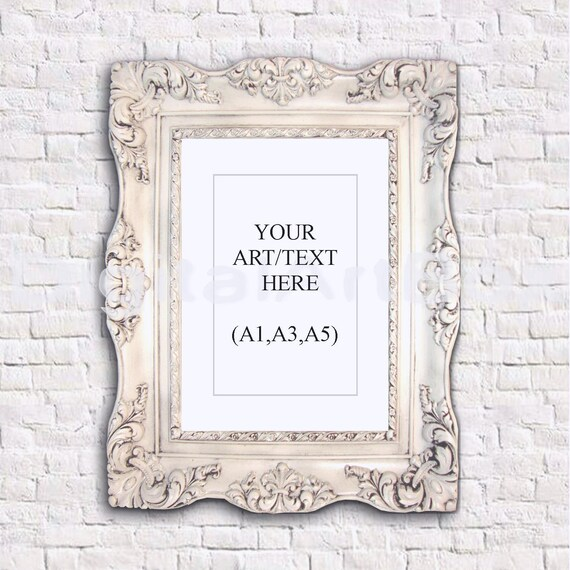 A3 Vertical Ornate Frame,Display and Frame A5,White Brick Wallpaper ...