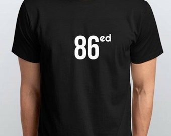 86ed Black 100% Cotton Tee Shirt by MHA
