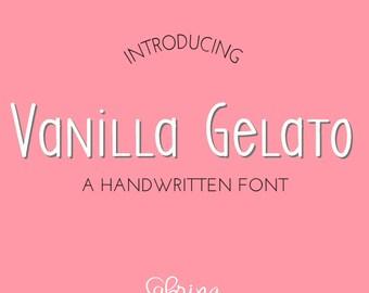 Digital Font Download- Handwritten Font for Commercial Use-Vanilla Gelato- Open Type Font- otf