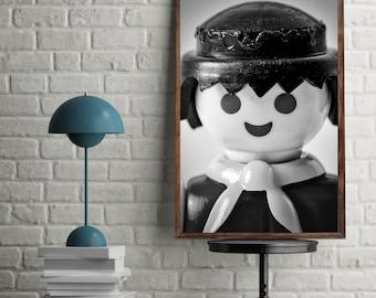 Printable Playmobil Macro Portraits