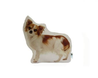 Chihuahua Shaped Dog Cushion, Add Custom Lettering, Handmade By Creature Comforts Direct, Personalised Dog Gift, Pillow