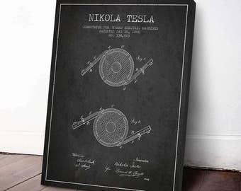 1886 Nikola Tesla Patent Print, Nikola Tesla Decor, Nikola Tesla Art, Wall Art, Home Decor, Gift Idea, FINT02C