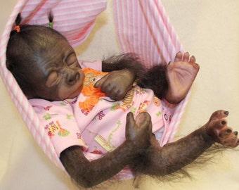 Reborn gorilla(eyes closed)