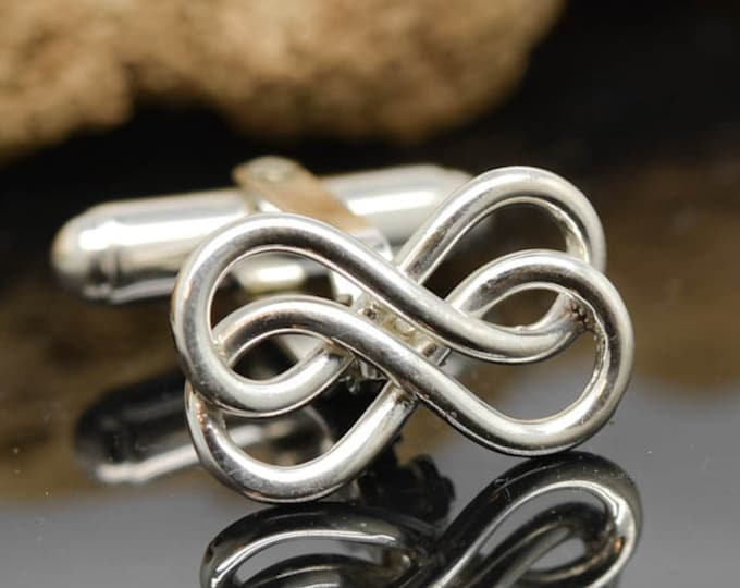 Double Infinity Cufflinks, mens accessories, mens cufflinks, groomsmen gift, gift for father, wedding day gift, gift for him, fathers day