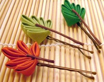 Three Seasons Leaf Kanzashi