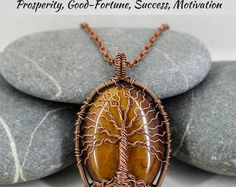 Tree of life necklace Tiger eye necklace Fertility necklace Men necklace Mothers day gift for grandma gift for mom gift for husband gift men