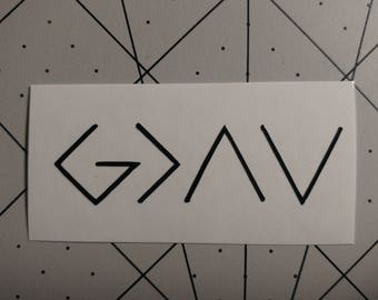 God is Greater Than the Highs and Lows Decal, Vinyl Decal, Custom Decal, Car Decal, Yeti Decal, Vinyl Sticker