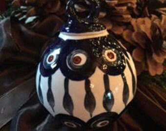 Polish Pottery Christmas Ornament FREE SHIPPING